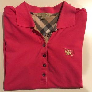 Burberry Pink Women's Polo Short